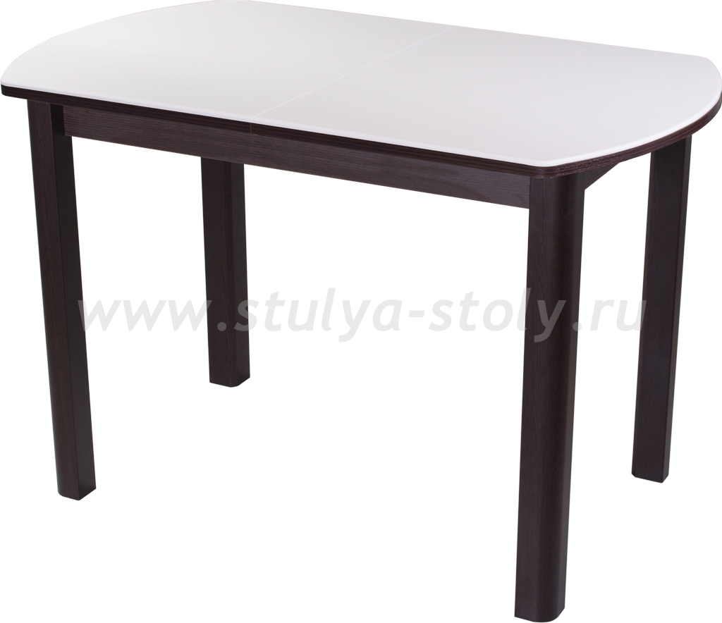 Стол обеденный Реал ПО-1 КМ 04 (6) ВН 04 ВН (белый с венге)