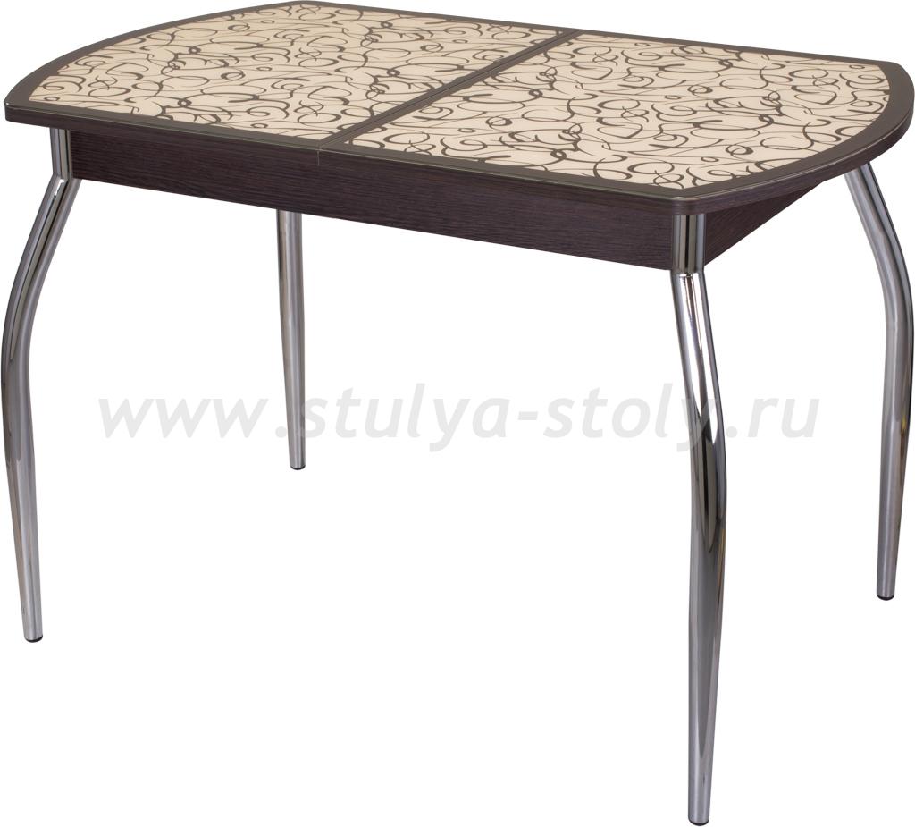 Стол кухонный Гамма ПО ВН ст-2 ВН/КР 01 (венге с узором)