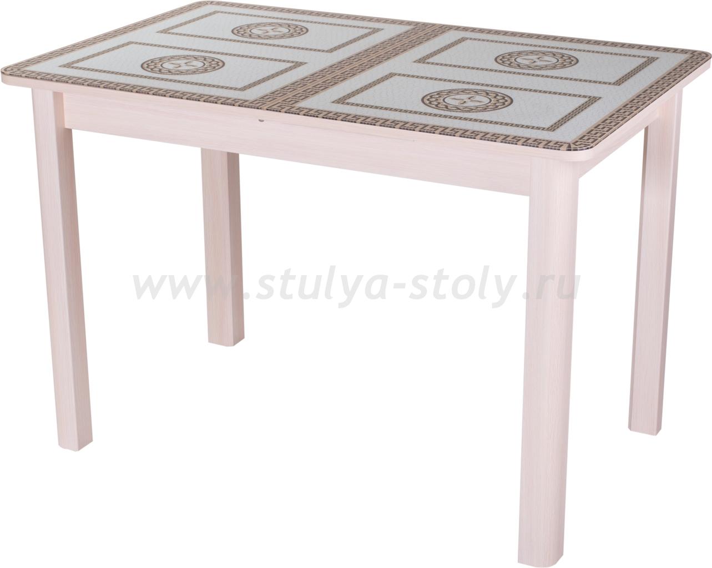 Стол кухонный Гамма ПР МД ст-71 04 МД (молочный дуб с греческим орнаментом)