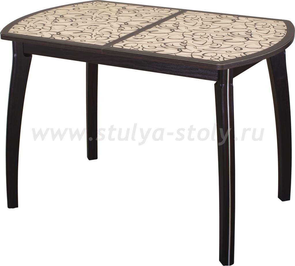 Стол обеденный Гамма ПО-1 ВН ст-2 ВН/КР 07 ВН (венге с узором)