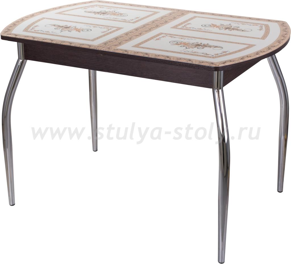 Стол обеденный Гамма ПО-1 ВН ст-72 01 (венге с растительным орнаментом)