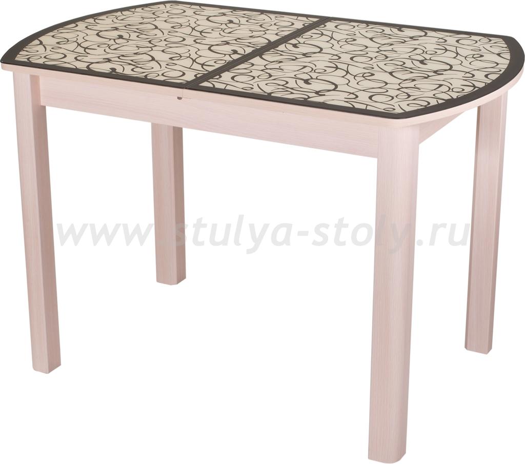 Стол обеденный Гамма ПО-1 МД ст-2 ВН/КР 04ВН (венге с узором)