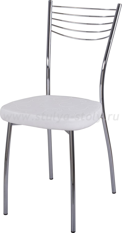 Стул кухонный Омега-1 Д-0/Д-0 белый с узором, повышенной комфортности