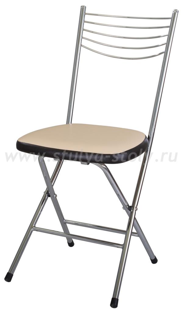Стул кухонный Омега-1 скл. В-1/В-4 бежевый/венге, повышенной комфортности