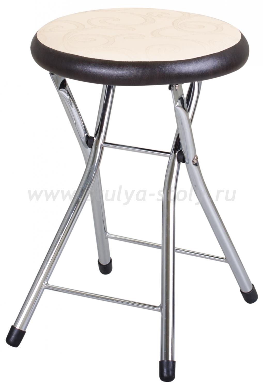 Кухонный табурет Соренто Д-2/В-4 светло бежевый/венге, повышенной комфортности