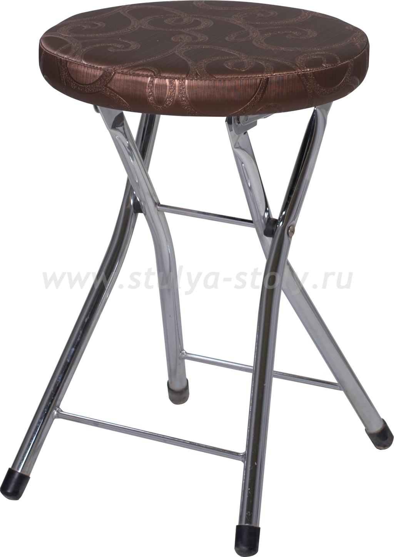 Кухонный табурет Соренто Д-4/Д-4 коричневый (темная бронза) с узором, повышенной комфортности