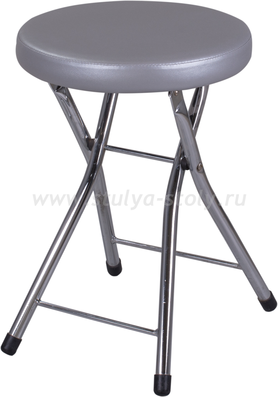 Кухонный табурет Соренто С-1/С-1 серебристый, повышенной комфортности
