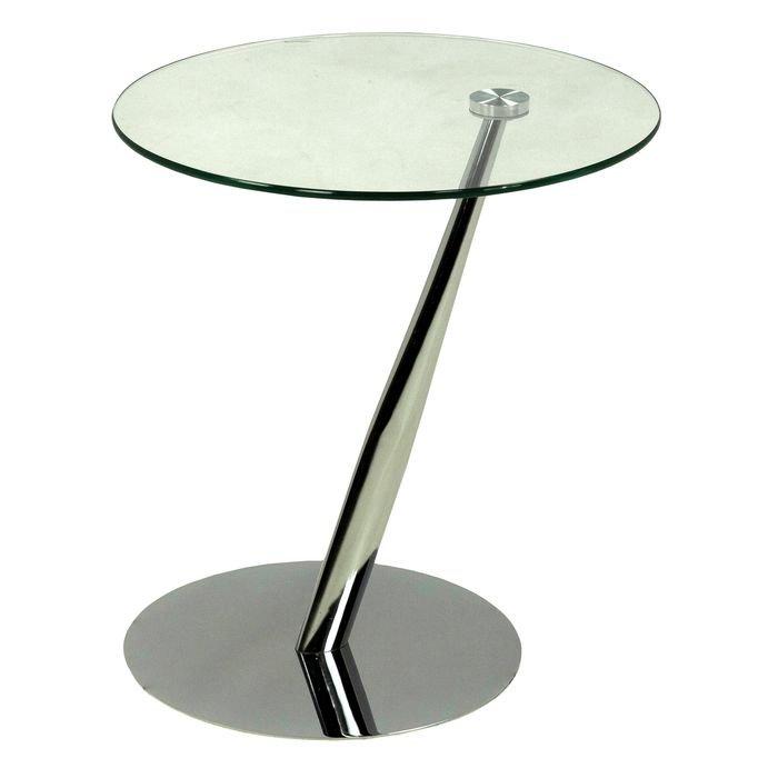 Круглый приставной столик (хром)