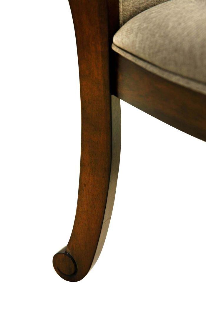 Стул из массива гевеи с мягкой обивкой Gelios  (темный орех)
