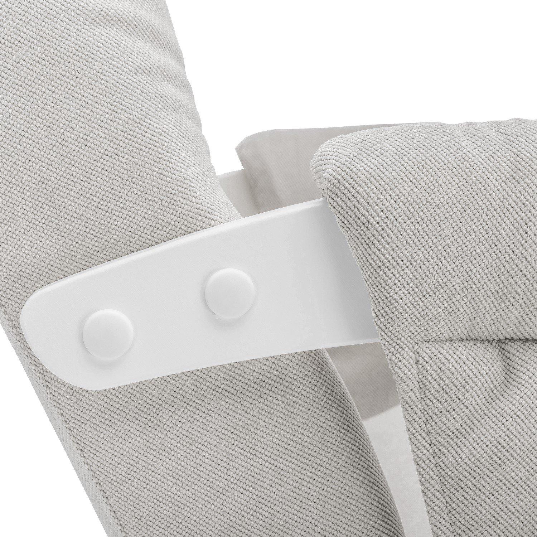Кресло для кормления Milli Smile с карманами (Verona Light Grey)