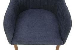 Стул-кресло с мягкой обивкой MC21-2  (темно-серый)