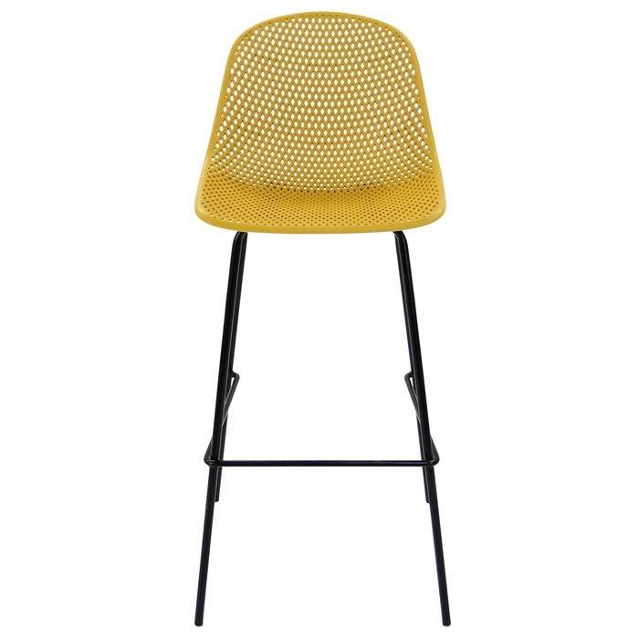 Стул облегченный барный из металла и пластика MK-6704-BB  (желтый)