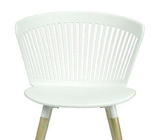 Лёгкий стул с деревянными ножками DC-1866-2 (белый)