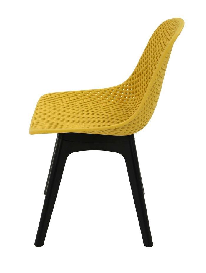 Легкий стул из пластика MK-6703-YB (желтый)