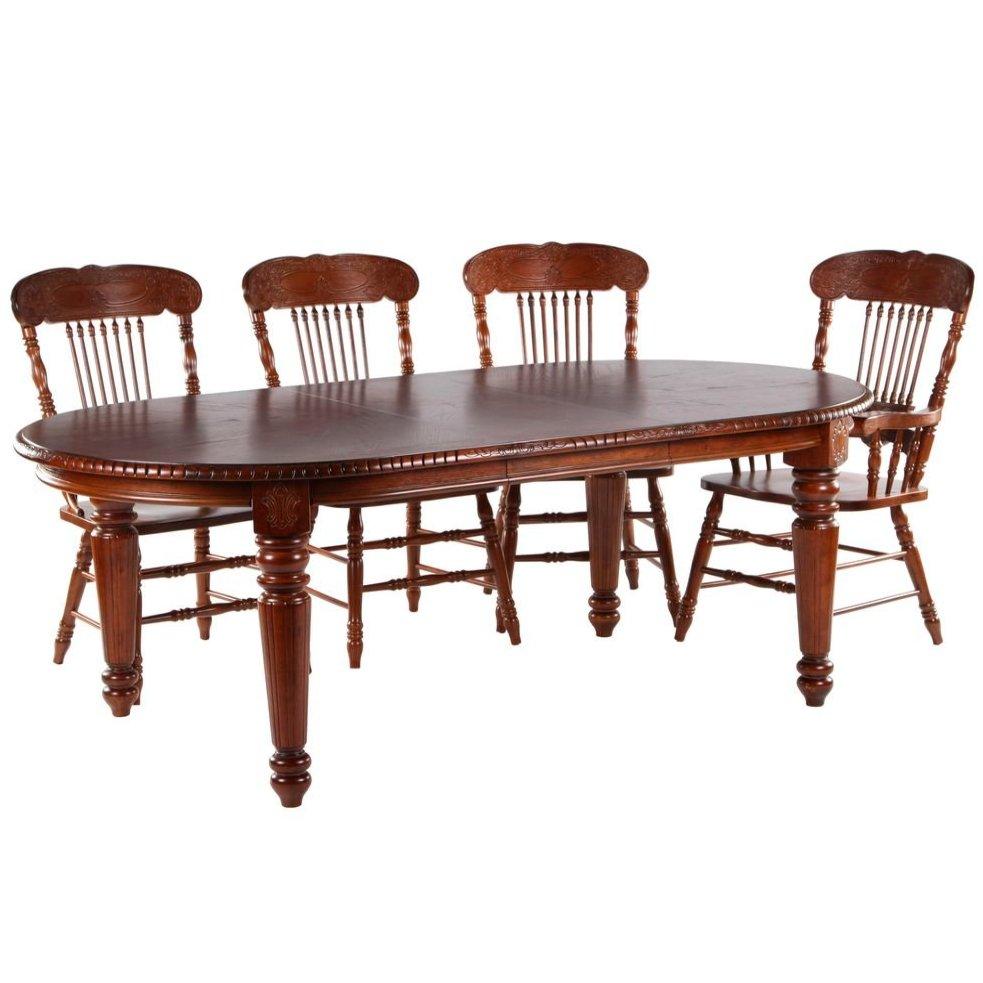 Стол обеденный раскладной стол HNDT - 4280 SWL (темный орех)