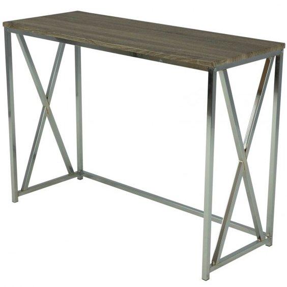 Столик консольный в стиле лофт (орех)