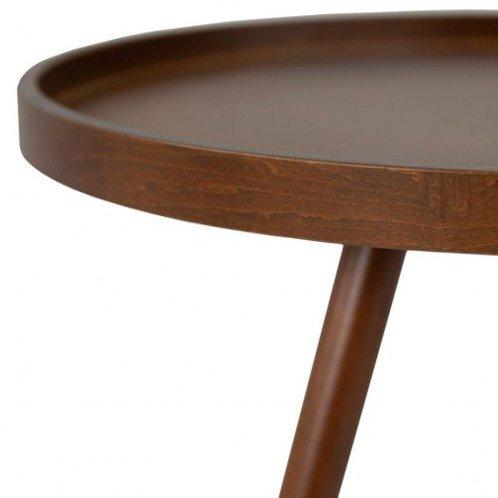 Столик кофейный для интерьера в современном стиле (темный орех)