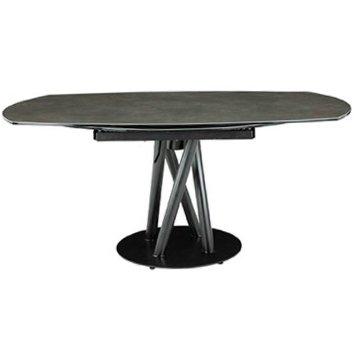Стол раскладной обеденный с керамической столешницей (серый)