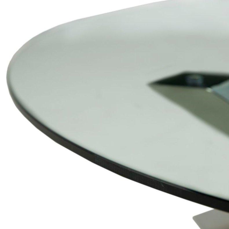 Журнальный столик со столешницей из прозрачного стекла (прозрачный)