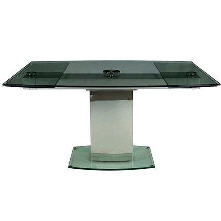 Раскладной стол с прозрачной столешницей из закаленного стекла MC-1030DT (прозрачный)