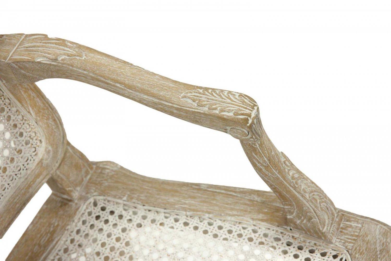 Стул с подлокотниками в стиле Прованс French Rattan (античный бежевый)