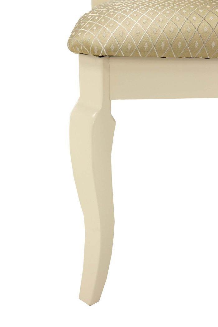 Стул в классическом стиле с орнаментальной спинкой (слоновая кость)
