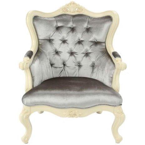 Кресло Милано (серое) (слоновая кость)
