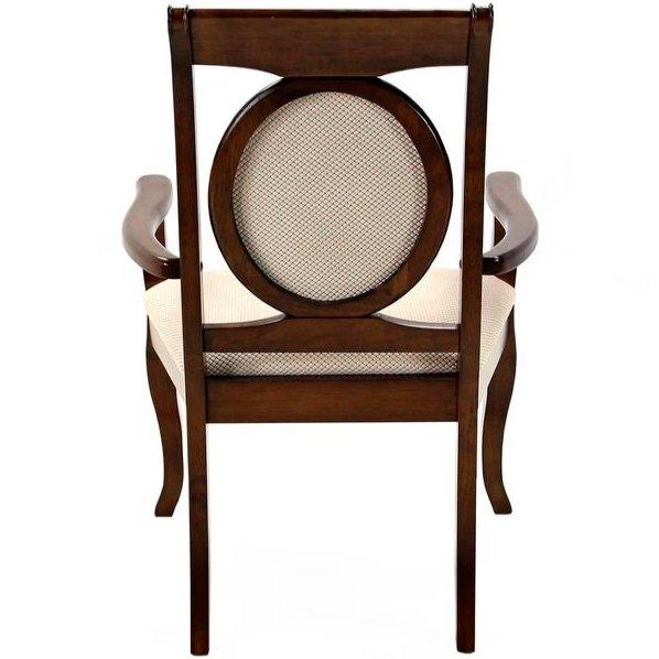 Мягкий стул в классическом стиле Legend с подлокотниками (темный орех)