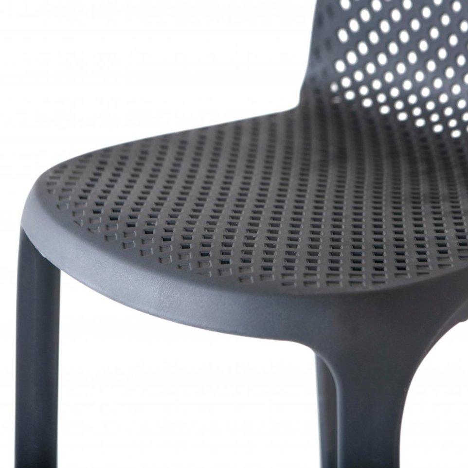 Барный стул Севилья из пластика, арт. LCAZ6049, цвет темно-серый.