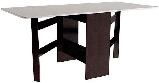 Компактный современный стол-книжка Т2 (венге цаво)
