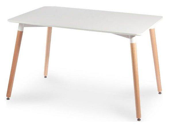 Стол белый обеденный Link из массива бука (белый)