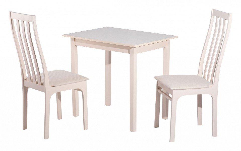 Стол обеденный из массива березы Грис (бежевый)