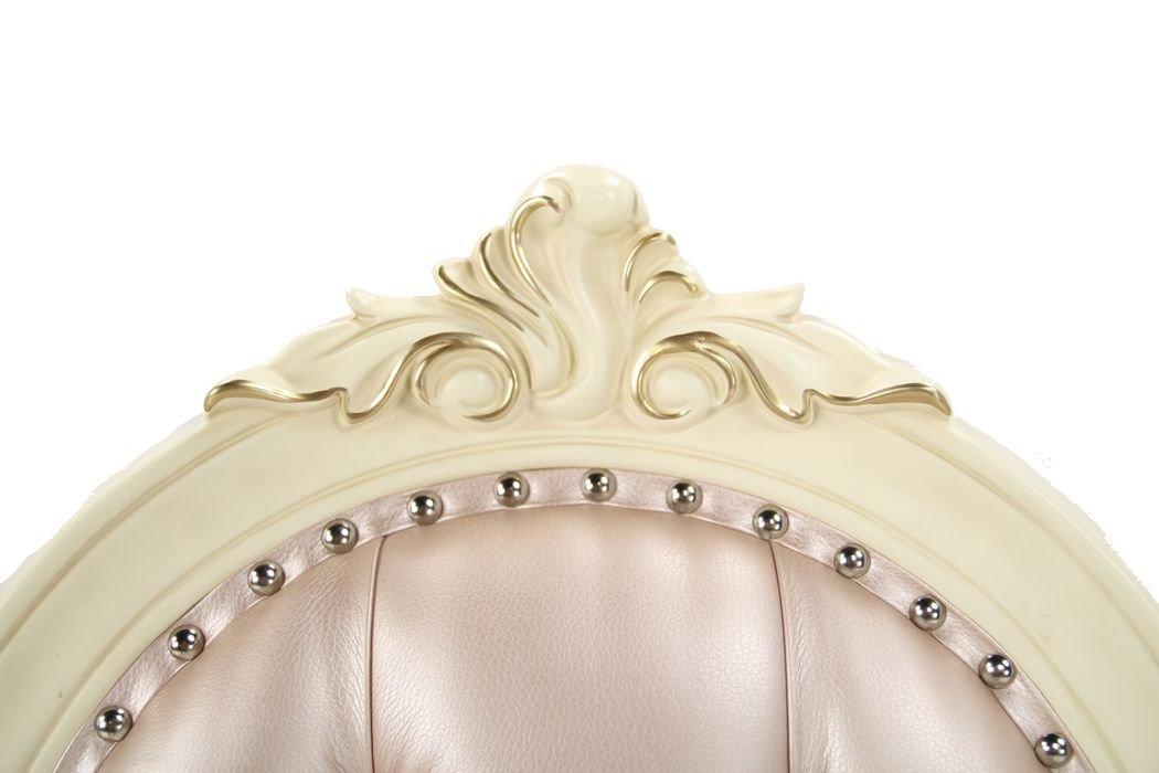 Стул классический Милано с золотой патиной (слоновая кость)