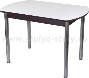Стол обеденный Гамма ПО-1 ВН ст-БЛ 02 (белый с венге)