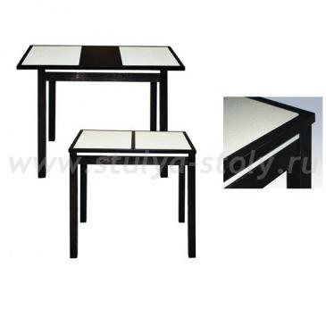 Стол обеденный Жасмин 950x680 с камнем из массива