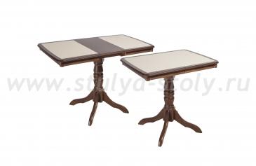Стол обеденный Эдельвейс МП с камнем из массива