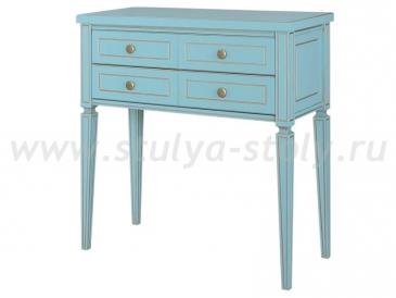 Стол консольный Классика - 2 (Голубой с золотой патиной)