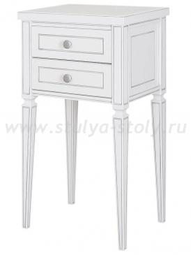 Стол Классика - 2 (Белый с серебряной патиной)