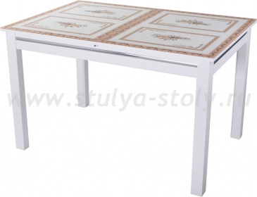 Стол со стеклом Дельта-1 БЛ ст72 08 БЛ белый