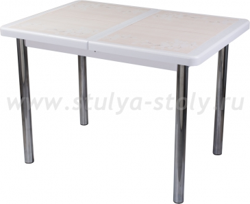 Стол обеденный Шарди ПР ВП БЛ 02 пл42 (белый)
