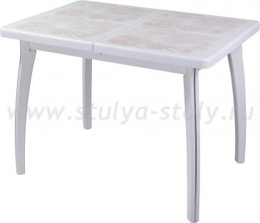Стол обеденный Шарди ПР ВП БЛ 07 ВП БЛ пл32 (белый)