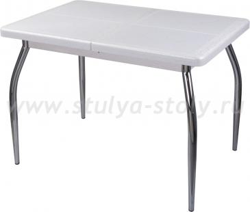 Стол обеденный Шарди ПР ВП БС 01 пл31 бело-серебристый