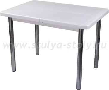 Стол обеденный Шарди ПР ВП БС 02 пл31 бело-серебристый