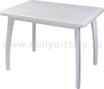 Стол обеденный Шарди ПР ВП БС 07 ВП БЛ пл31 (бело-серебристый)