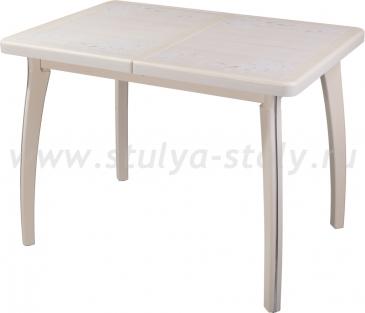 Стол обеденный Шарди ПР ВП КР 07 ВП КР пл42 (кремовый)