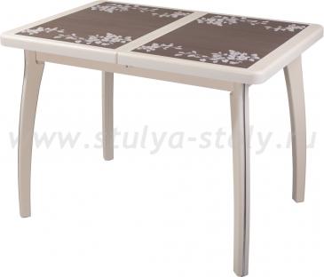 Стол обеденный Шарди ПР ВП КР 07 ВП КР пл44 (кремовый)
