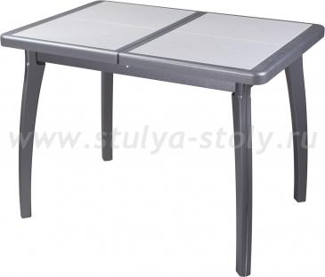 Стол обеденный Шарди ПР ВП СР 07 ВП СР пл31 (серый)
