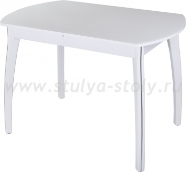 Стол обеденный Гамма ПО-1 БЛ ст-БЛ 07 БЛ (белый)