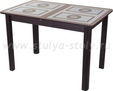 Стол обеденный Гамма ПР-1 ВН ст-71 04 ВН (венге с греческим орнаментом)