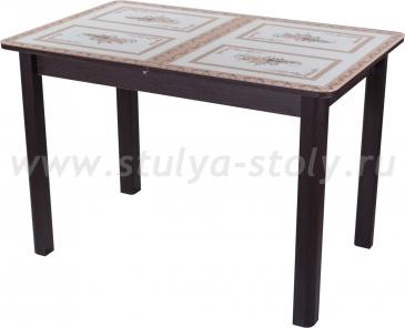 Стол обеденный Гамма ПР-1 ВН ст-72 04 ВН (венге с растительным орнаментом)